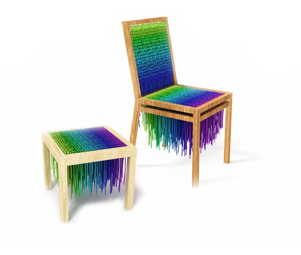Dise o en lana minimalista vos ves trama concurso de for Diseno industrial de muebles
